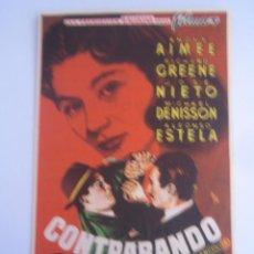 Cine: CONTRABANDO - FOLLETO DE MANO ORIGINAL ESTRENO CON CINE IMPRESO. Lote 42816744