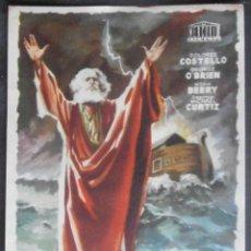 Cine: EL ARCA DE NOE, FOLLETO DE MANO, (4203) , JANO ,CONSERVACION:. Lote 42826113