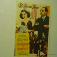 Foglietti di film di film antichi di cinema: PROGRAMA LAS MEMORIAS DE UNA VAMPIRESA- ADRIANA LAMAR. Lote 42851040