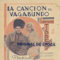 Cine: (PG-402)PROGRAMA DE CINE DOBLE LA CANCION DEL VAGABUNDO. Lote 126892294