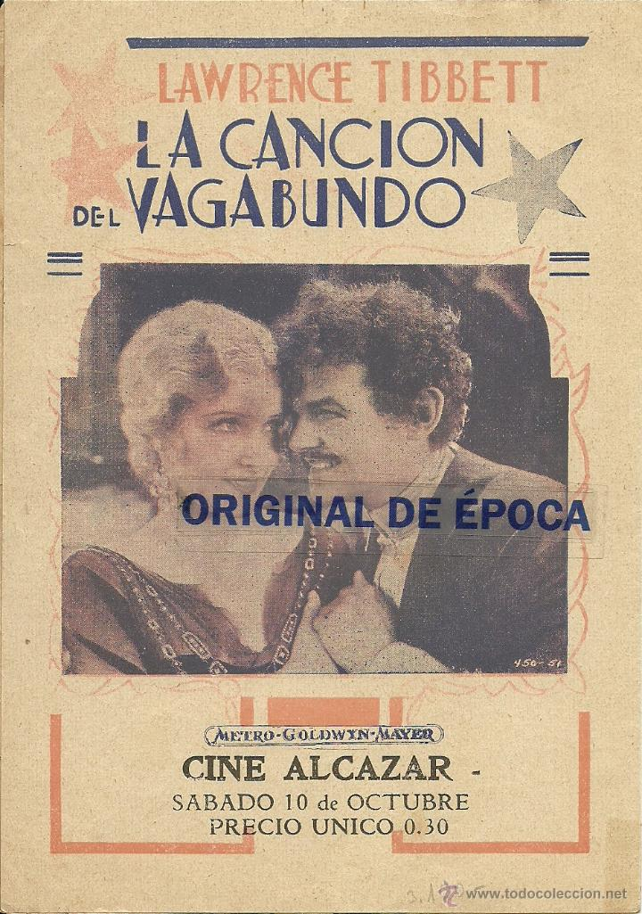 Cine: (PG-402)PROGRAMA DE CINE DOBLE LA CANCION DEL VAGABUNDO - Foto 3 - 126892294