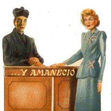 Folhetos de mão de filmes antigos de cinema: PROGRAMA DE CINE - Y AMANECIÓ - TROQUELADO. Lote 42950977