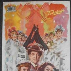 Foglietti di film di film antichi di cinema: FRENCH CAN-CAN, FOLLETO DE MANO, (4391) , JANO ,CONSERVACION:. Lote 43002743