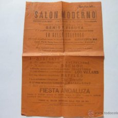 Cine: FOLLETO CARTEL DE MANO DEL SALON MODERNO DE PROSPERIDAD - MADRID - CURANDERITA MIA - AÑOS 20. Lote 43033540