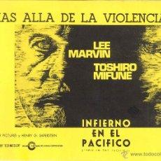 Cine: PROGRAMA INFIERNO EN EL PACÍFICO DE JOHN BOORMAN CON LEE MARVIN Y TOSHIRO MIFUNE. Lote 43040413
