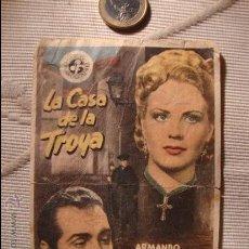 Cine: ANTIGUO FOLLETO CINE PELICULA LA CASA DE LA TROYA.- PROYECTADA EN ELCHE, AÑOS 40. Lote 31180244