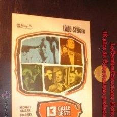 Cine: FOLLETO DE MANO PELICULA 13 CALLE OESTE, ORIGINAL DE ÉPOCA, 1964.. Lote 10860273