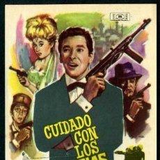 Cine: CUIDADO CON LOS ESPIAS - AÑO 1964 - FOLLETO DE MANO ORIGINAL . Lote 43086368
