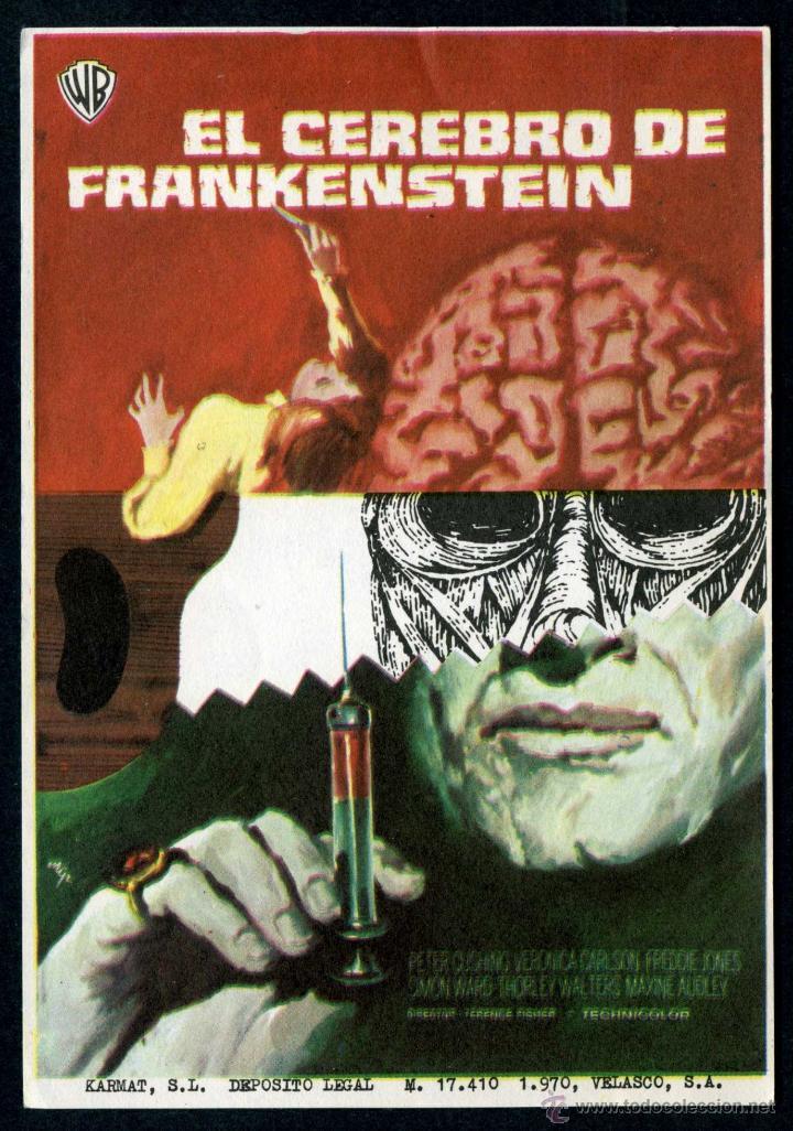 EL CEREBRO DE FRANKENSTEIN - AÑO 1969 - FOLLETO DE MANO ORIGINAL (Cine - Folletos de Mano - Terror)