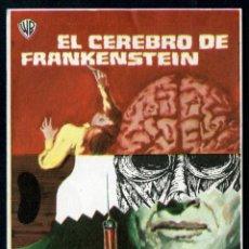 Cine: EL CEREBRO DE FRANKENSTEIN - AÑO 1969 - FOLLETO DE MANO ORIGINAL . Lote 43106913