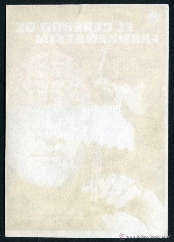 Cine: EL CEREBRO DE FRANKENSTEIN - AÑO 1969 - FOLLETO DE MANO ORIGINAL - Foto 2 - 43106913