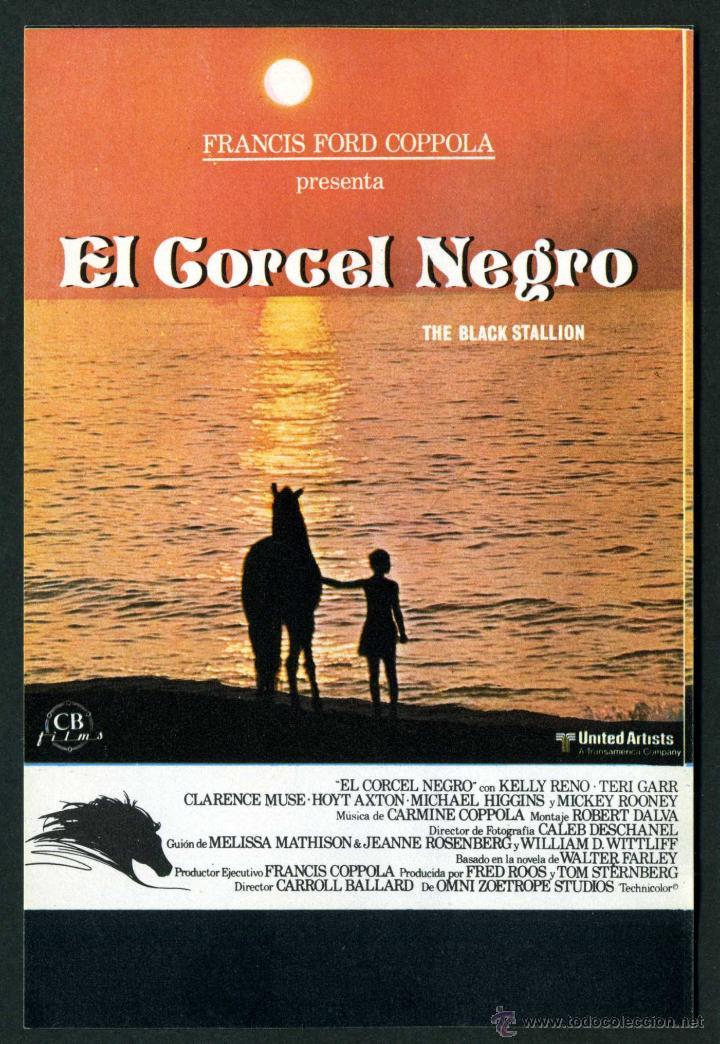 EL CORCEL NEGRO - AÑO 1979 - FOLLETO DE MANO ORIGINAL (Cine - Folletos de Mano - Infantil)