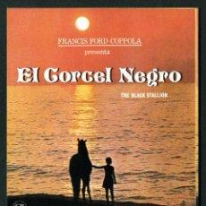 Cine: EL CORCEL NEGRO - AÑO 1979 - FOLLETO DE MANO ORIGINAL . Lote 43106924