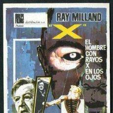 Cine: EL HOMBRE CON RAYOS X EN LOS OJOS - AÑO 1963 - FOLLETO DE MANO ORIGINAL Nº1. Lote 43107010
