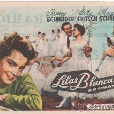 Cine: LILAS BLANCAS - ROMY SCHNEIDER -SENCILLO - CON PUBLICIDAD. Lote 43229739