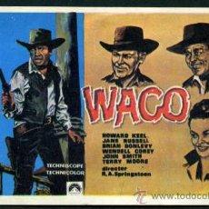 Cine: WACO ( LA FUERZA DE LA LEY ) - AÑO 1966 - FOLLETO DE MANO ORIGINAL . Lote 43293248
