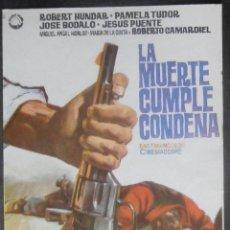 Cine: LA MUERTE CUMPLE CONDENA, FOLLETO DE MANO, (4515) , JANO ,CONSERVACION:. Lote 43303920
