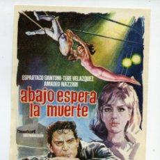 Cine: ABAJO ESPERA LA MUERTE.. Lote 174284962