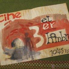 Cine: CARTEL-FOLLETO DE CINE - EL 3ER. HOMBRE - ACUARELA ORIGINAL.. Lote 43408461