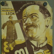 Cine: ES MI HOMBRE PROGRAMA SENCILLO GRANDE CIFESA CINE ESPAÑOL VALERIANO LEON BENITO PEROJO. Lote 43423794