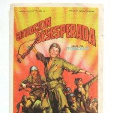 Cine: PROGRAMA SENCILLO *SITUACION DESESPERADA* 1952 RICHARD WIDMARK JACK PALANCE. CINEMA COCA VALLADOLID. Lote 43458593