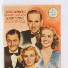 Flyers Publicitaires de films Anciens: PROGRAMA DE CINE - HORA RADIANTE - PUBLICIDAD AL DORSO - 13,5 X 8,5 CM - JOAN CRAWFORD. Lote 43467840
