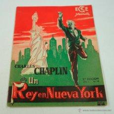 Cine: UN REY EN NUEVA YORK, CHARLES CHAPLIN. 13X17CM. 10 PAG. . Lote 43509680