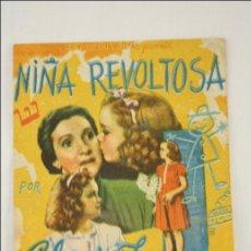 Cine: PROGRAMA DOBLE DE CINE - NIÑA REVOLTOSA - 12,5 X 9 CM - GLORIA JEAN. Lote 43510087