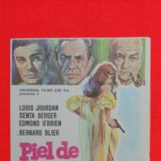 Cine: PIEL DE ESPIA, IMPECABLE SENCILLO ORIGINAL, LOUIS JOURDAN SENTA BERGER, SIN PUBLICIDAD. Lote 43592101