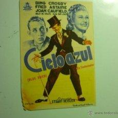 Cine: PROGRAMA CIELO AZUL.-BING CROSBY-FRED ASTAIRE-PUBLICIDAD REX-CASTELLON. Lote 43596427