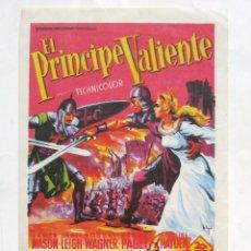 Cine: PROGRAMA SENCILLO *EL PRINCIPE VALIENTE* 1956 JAMES MASON JANET LEIGH. TEATRO EMPERADOR LEÓN. Lote 43619371
