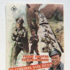 Cine: PROGRAMA SENCILLO *EL CORONEL VON RYAN* 1966 FRANK SINATRA TREVOR HOWARD. TEATRO EMPERADOR LEÓN. Lote 43621617