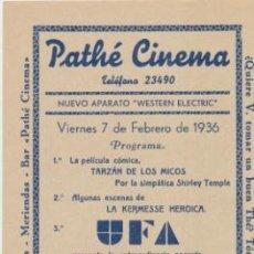Cine: LA VIUDA SOLTERA. PROGRAMA LOCAL.(22X10) PATHÉ CINEMA. SEVILLA 1936.. Lote 43621712