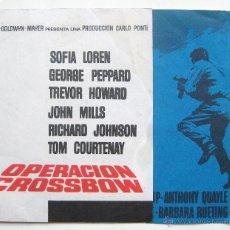 Cine: PROGRAMA DOBLE *OPERACION CROSSBOW* SOFIA LOREN GEORGE PEPPARD. CINES VILLASECA Y MUXIVEN LEÓN. Lote 43646090