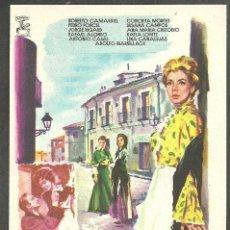 Cine: FOLLETO DE MANO - MI CALLE - ROBERTO CAMARDIEL - DIRIGIDA POR EDGAR NEVILLE - S/P -. Lote 43651187