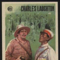 Cine: P-4049- BANDERA AMARILLA (CHARLES LAUGHTON - ELSA LANCHESTER - ROBERT NEWTON). Lote 43701180