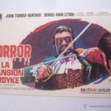 Cine: HORROR EN LA MANSION FORDYKE - FOLLETO DE MANO ORIGINAL ESTRENO. Lote 43720979