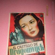 Cine: ANTIGUO PROGRAMA DE CINE * EL CASTILLO DE DRAGONWYCK * EN EL CENTRAL CINEMA DE TIBI - AÑO 1949. Lote 177735954