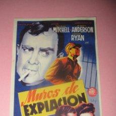 Cine: ANTIGUO PROGRAMA DE CINE * MUROS DE EXPIACIÓN * EN EL CENTRAL CINEMA DE TIBI - AÑO 1949. Lote 43724238