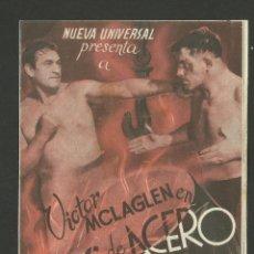 Cine: BRAZOS DE ACERO - VER FOTOS - DOBLE - TEATRO CINE EUTERPE- (C-1441). Lote 43771154