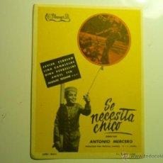 Cine: PROGRAMA SE NECESITA CHICO -. Lote 43806239