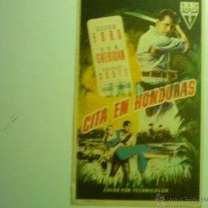 Cine: PROGRAMA CITA EN HONDURAS-GLENN FORD. Lote 43812773