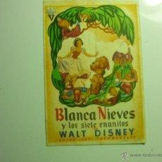 Cine: PROGRAMA BLANCA NIEVES Y LOS SIETE ENANITOS-DISNEY PUBLICIDAD KURSAAL REUS. Lote 43812782