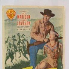 Cine: PROGRAMA DE CINE - LA CARGA DE LOS JINETES INDIOS - PUBLICIDAD AL DORSO - 16 X 11 CM. Lote 43857145