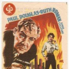 Cine: CAUTIVO DEL TORROR - PAUL DOUGLAS, RUTH ROMAN, BONAR COLLEANO - DIRECTOR KEN HUGHES - JANO. Lote 43857283