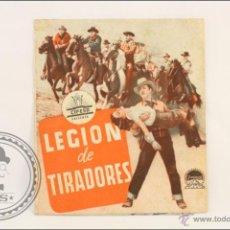 Cine: PROGRAMA DOBLE DE CINE - LEGIÓN DE TRAIDORES - PUBLICIDAD AL DORSO - 12 X 10,5 CM. Lote 43857476
