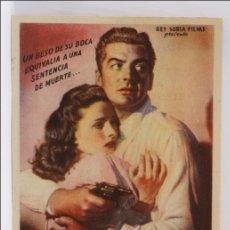 Cinema - Programa de Cine - El Beso de la Muerte - Publicidad al Dorso - 13,5 x 9 Cm - 43859927
