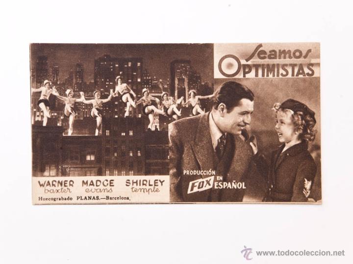 SEAMOS OPTIMISTAS (Cine - Folletos de Mano - Comedia)