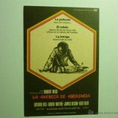Foglietti di film di film antichi di cinema: PROGRAMA LA AMENAZA DE ANDROMEDA .- ARTHUR HILL. Lote 43927722