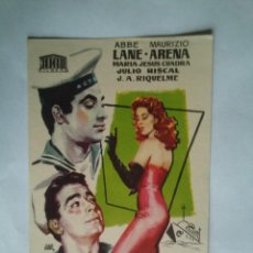 Folhetos de mão de filmes antigos de cinema: PROGRAMA DE CINE - MARINEROS NO MIREIS A LAS CHICAS - SIN PUBLICIDAD -. Lote 43997910
